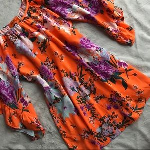 VOOM by Joy Han Sara Dress Boho Orange Floral